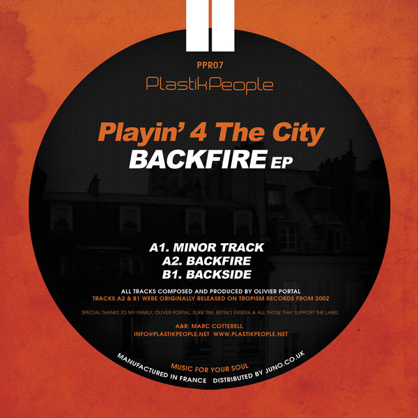 Playin 4 The City - Backfire EP [PPR007]